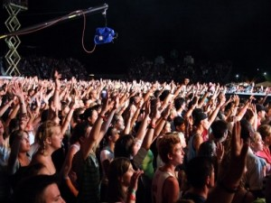 Массовка на съемку концерта